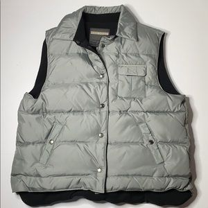 Liz Claiborne Fleece Lined Gray Down Puffer Vest